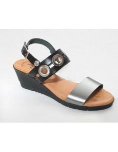 Sandalia Metalizada Combinada